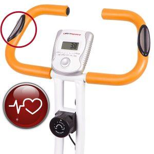 Pulsmesser in Hometrainer Fahrrad